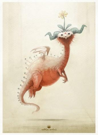 Matthias Derenbach #Illustration - Flower Dragon