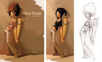 Matthias Derenbach #Illustration - Fleur Earth/Suff Daddy - Stein im Brett