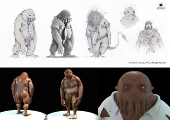 Matthias Derenbach Charakterentwürfe - 3D Umsetzung von proinspace