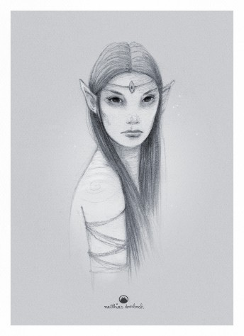 Matthias Derenbach #Illustration - elb woman/sketch