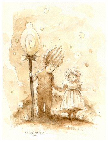 Matthias Derenbach #Illustration - Groot&girl/Sketch