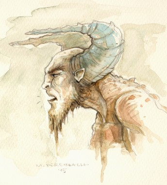 Matthias Derenbach #Illustration - Sketch/watercolor