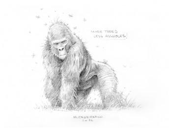 Matthias Derenbach #Illustration - gorilla