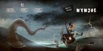 Matthias Derenbach #Illustration - Nynjoe OPTIMIST LP Cover