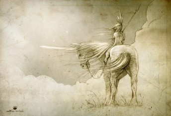 Matthias Derenbach #Illustration - unicorn/sketch